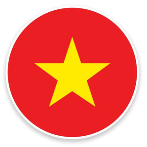 2 x Vietnam Flag Vinyl Sticker  #9083