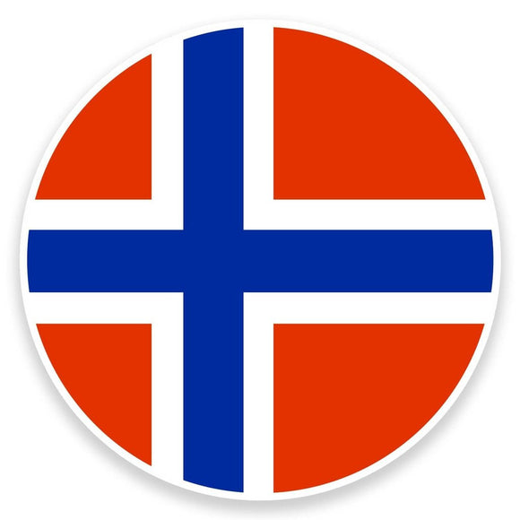 2 x Norway Flag Vinyl Sticker  #9091