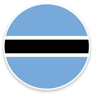 2 x Botswana Flag Vinyl Sticker  #9092