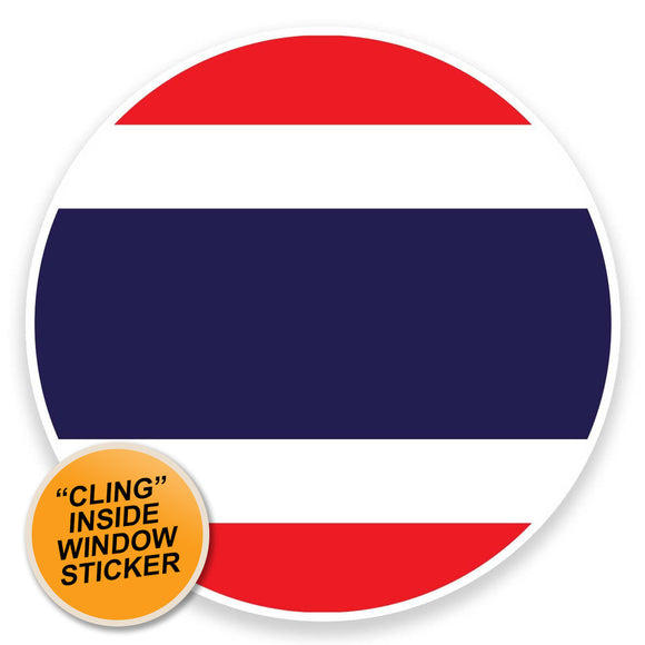 2 x Thailand WINDOW CLING STICKER Car Van Campervan Glass #9096