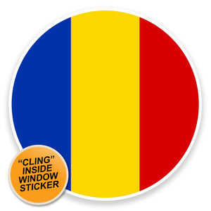 2 x Romania WINDOW CLING STICKER Car Van Campervan Glass #9097