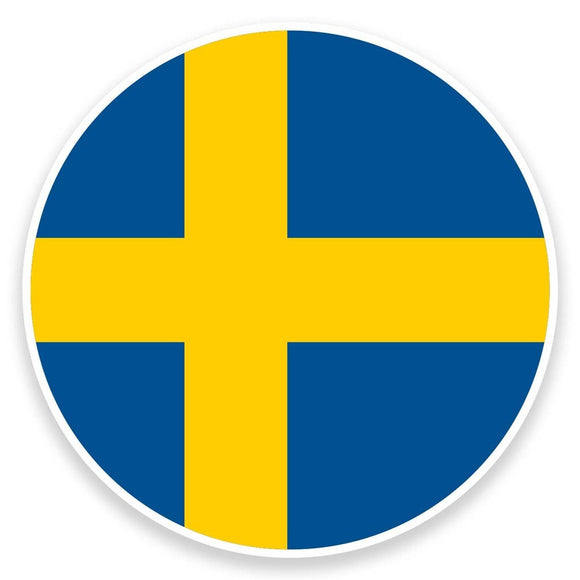 2 x Sweden Flag Vinyl Sticker  #9100