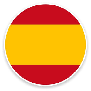 2 x Spanish Flag Vinyl Sticker  #9101