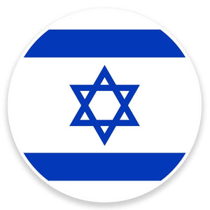 2 x Israel Flag Vinyl Sticker  #9103