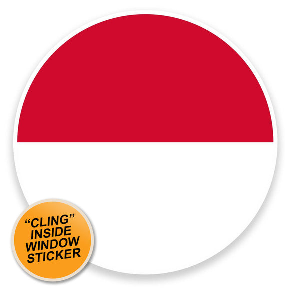 2 x Monaco Flag WINDOW CLING STICKER Car Van Campervan Glass #9111