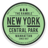 2 x Central Park New York USA Vinyl Sticker  #9116