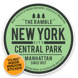 2 x Central Park New York USA WINDOW CLING STICKER Car Van Campervan Glass #9116
