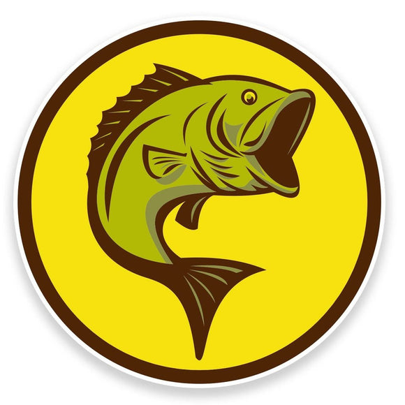 2 x Fish Vinyl Sticker  #9117