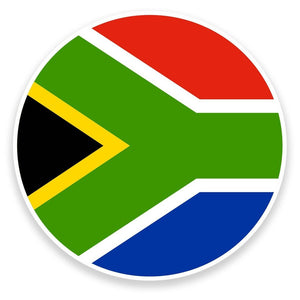 2 x South Africa Flag Vinyl Sticker  #9121