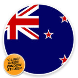 2 x New Zealand Flag WINDOW CLING STICKER Car Van Campervan Glass #9124