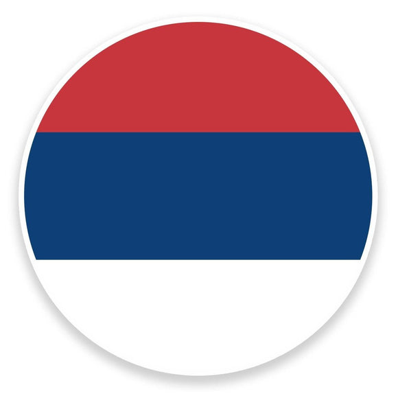 2 x Serbia Flag Vinyl Sticker  #9132
