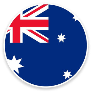 2 x Australia Flag Vinyl Sticker  #9136