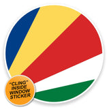 2 x Seychelles Flag WINDOW CLING STICKER Car Van Campervan Glass #9139