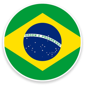 2 x Brazil Flag Vinyl Sticker  #9140