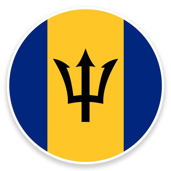 2 x Barbados Flag Vinyl Sticker  #9144