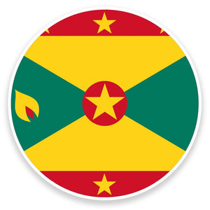 2 x Grenada Flag Vinyl Sticker  #9148