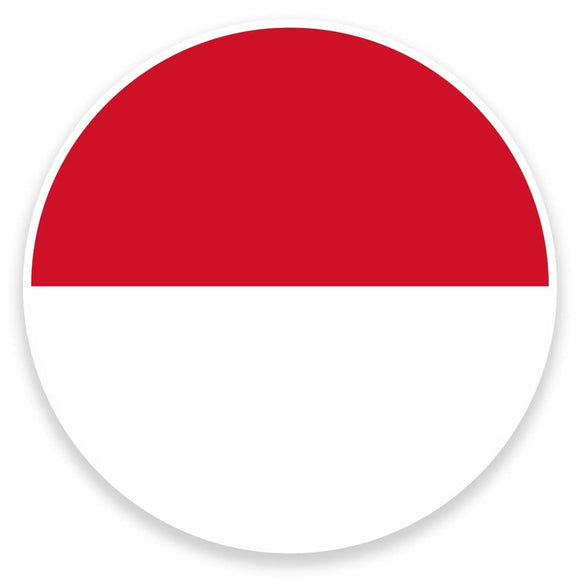 2 x Indonesia Flag Vinyl Sticker  #9149