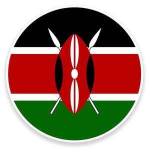 2 x Kenya Vinyl Sticker  #9152
