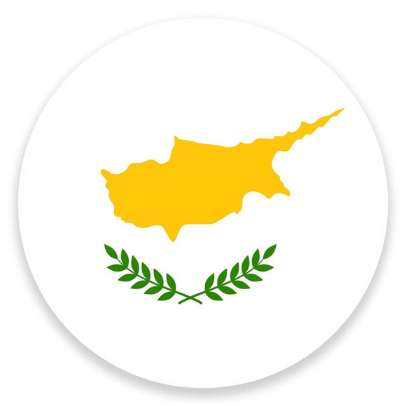 2 x Cyprus Flag Vinyl Sticker  #9154