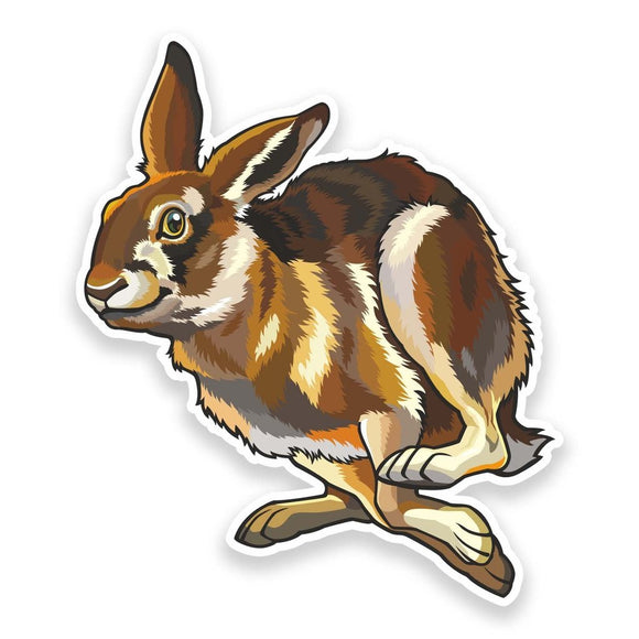 2 x Happy Hare Vinyl Sticker  #9174