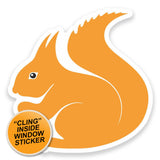 2 x Squirrel WINDOW CLING STICKER Car Van Campervan Glass #9175