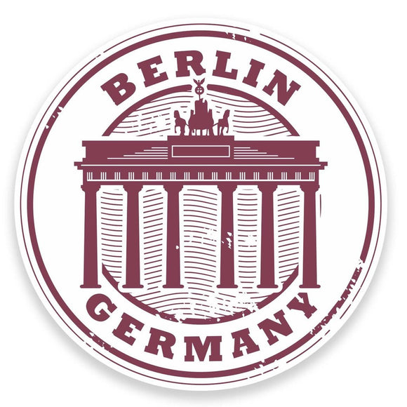 2 x Berlin Germany Vinyl Sticker  #9179