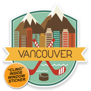 2 x Vancouver Canada WINDOW CLING STICKER Car Van Campervan Glass #9186