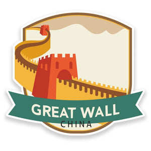 2 x Great Wall of China Vinyl Sticker  #9189