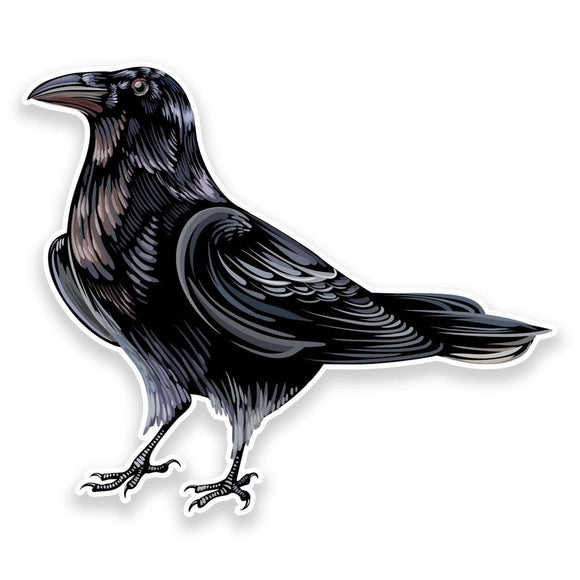 2 x Raven Crow Vinyl Sticker  #9191