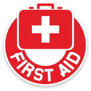 2 x First Aid Vinyl Sticker  #9203