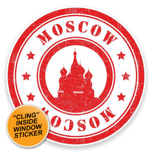 2 x Moscow WINDOW CLING STICKER Car Van Campervan Glass #9204