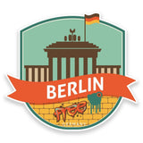 2 x Berlin Germany Vinyl Sticker  #9206