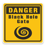 2 x Warning Black Hole Vinyl Sticker  #9220