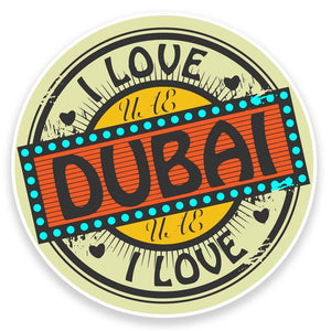 2 x UAE Dubai Vinyl Sticker  #9227