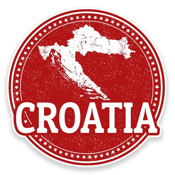 2 x Croatia Vinyl Sticker  #9228