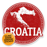 2 x Croatia WINDOW CLING STICKER Car Van Campervan Glass #9228