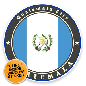 2 x Guatemala Flag WINDOW CLING STICKER Car Van Campervan Glass #9236