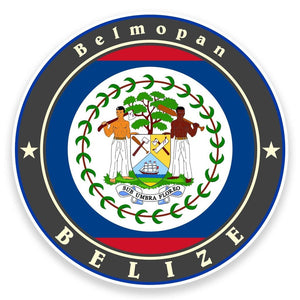 2 x Belize Flag Vinyl Sticker  #9239
