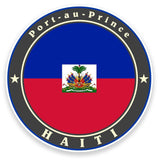 2 x Haiti Flag Vinyl Sticker  #9241
