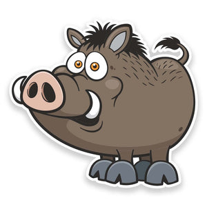 2 x Hog Boar Pig Vinyl Sticker  #9248
