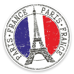 2 x Paris Eiffel Tower France Vinyl Sticker  #9271
