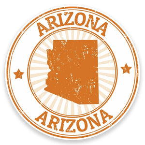 2 x Arizona USA Vinyl Sticker #9288