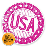2 x USA America WINDOW CLING STICKER Car Van Campervan Glass #9309