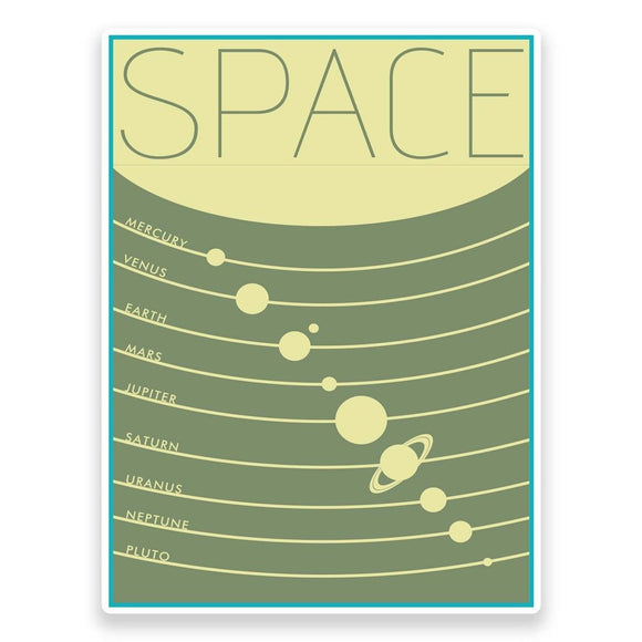 2 x Space Planets Vinyl Sticker #9311