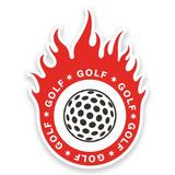 2 x Golf Ball Vinyl Sticker #9312