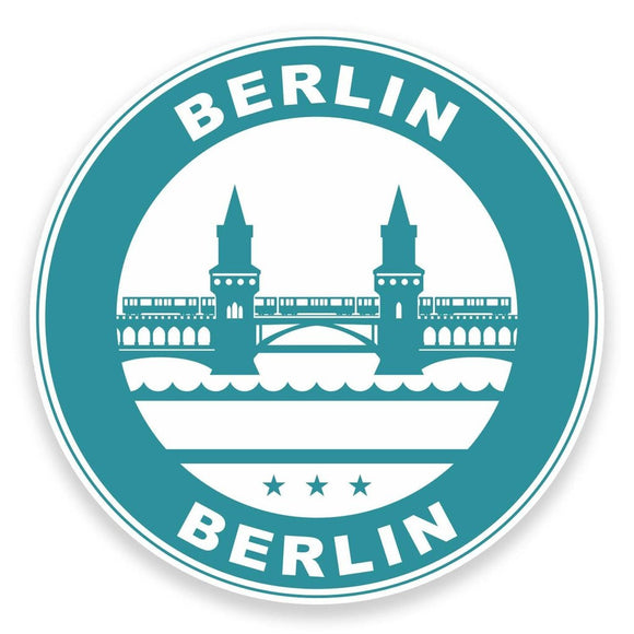 2 x Berlin Germany Vinyl Sticker #9314