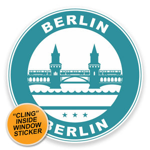 2 x Berlin Germany WINDOW CLING STICKER Car Van Campervan Glass #9314