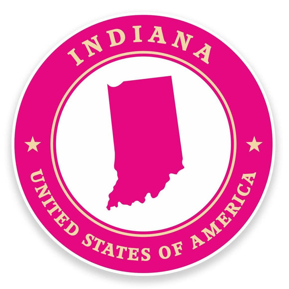 2 x Indiana USA Vinyl Sticker #9333