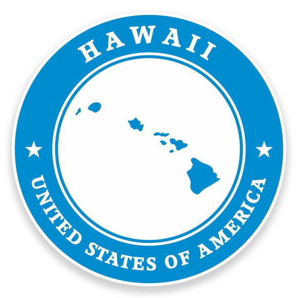 2 x Hawaii USA Vinyl Sticker #9344
