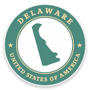 2 x Delaware USA Vinyl Sticker #9349